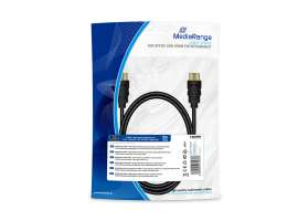 Καλώδιο MediaRange HDMI High Speed with Ethernet connection, gold-plated contacts, 1m black (MRCS195)