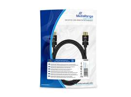 Καλώδιο MediaRange HDMI High Speed with Ethernet connection, with rotating plugs, gold-plated contacts, 2m, black (MRCS197)