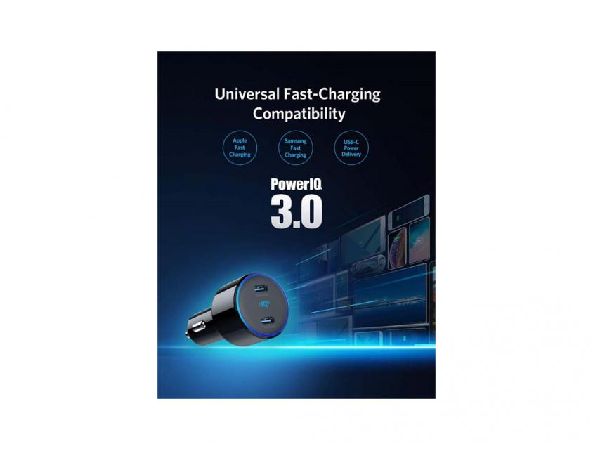 Car Charger Anker Powerdrive+ III Duo Type-C (A2725H11)