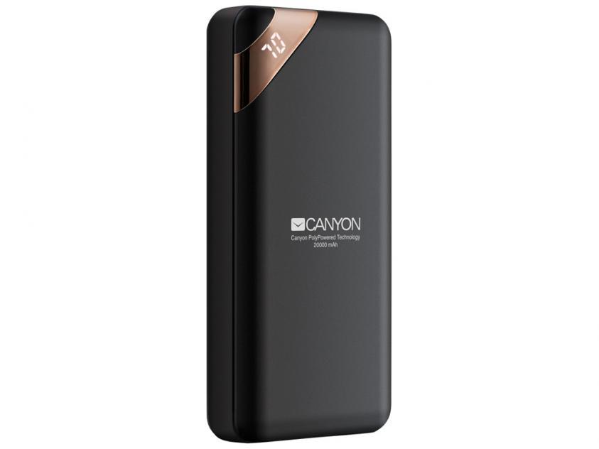 Power Bank Canyon Compact 20000mAh Black (CNE-CPBP20B)