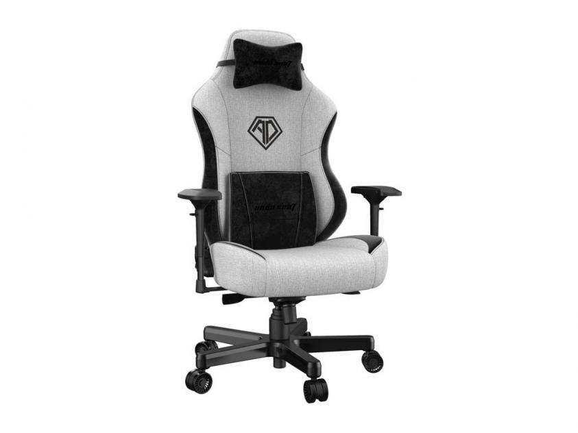 Gaming Καρέκλα Anda Seat AD18 T-PRO Light Grey/Black (AD18-03-GB-F)