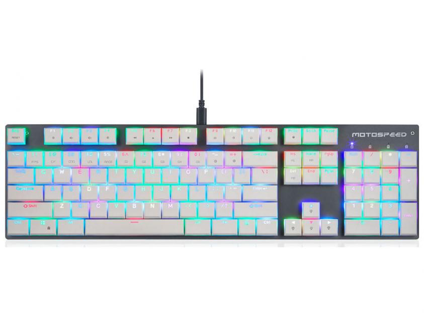 Gaming Mechanical Keyboard Motospeed CK94 Wired RGB Kailh Sort White Switch US Layout (MT00045)