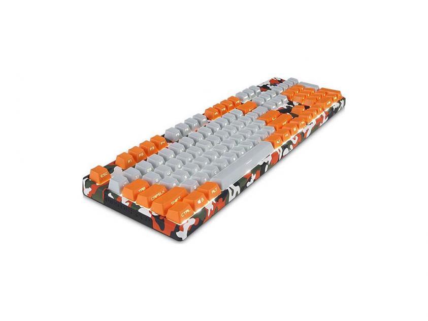 Gaming Keyboard Motospeed K96 RGB Camo Orange Brown Switches (MT00059)