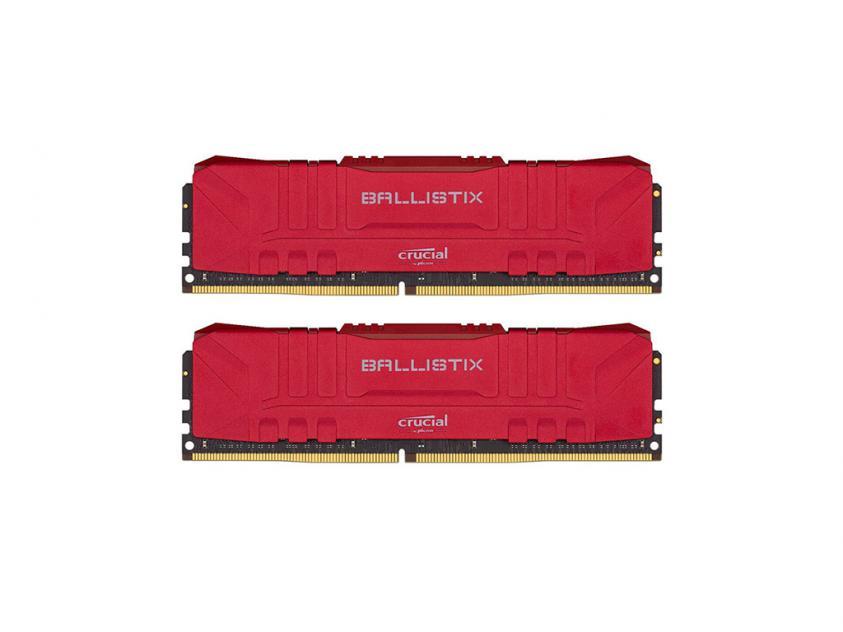 Μνήμη Crucial Ballistix 32GB Kit (2 x 16GB) DDR4-3000 RGB (Red) (BL2K16G30C15U4R)