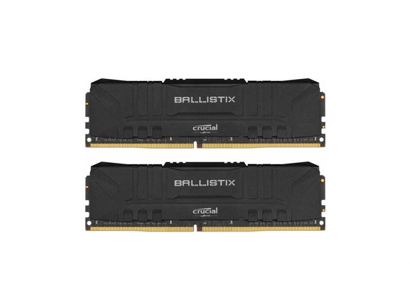 Μνήμη Crucial Ballistix (Black) DDR4 3200MHz 16GB Kit (2 x 8GB) (BL2K8G32C16U4B)