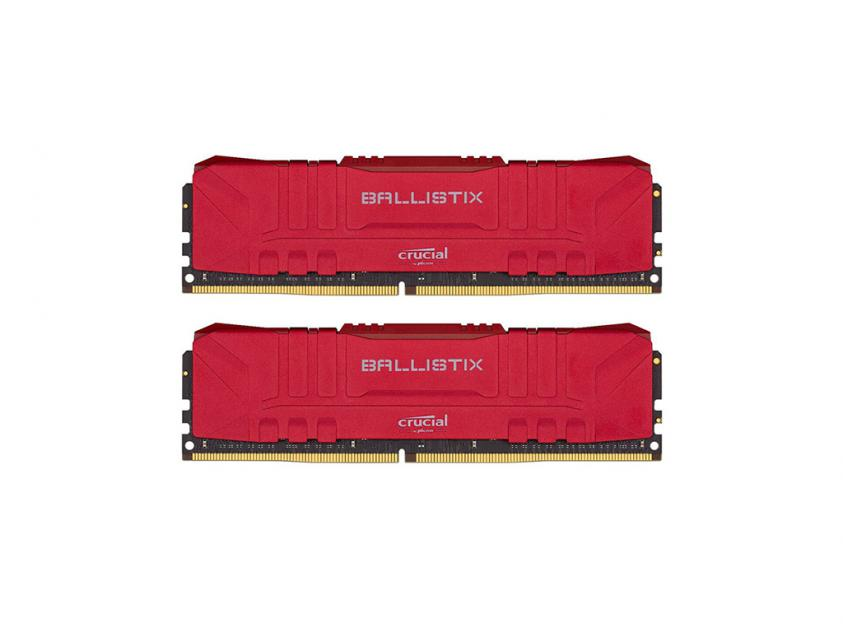 Μνήμη Crucial Ballistix (Red) DDR4 3200MHz 16GB Kit (2 x 8GB) (BL2K8G32C16U4R)