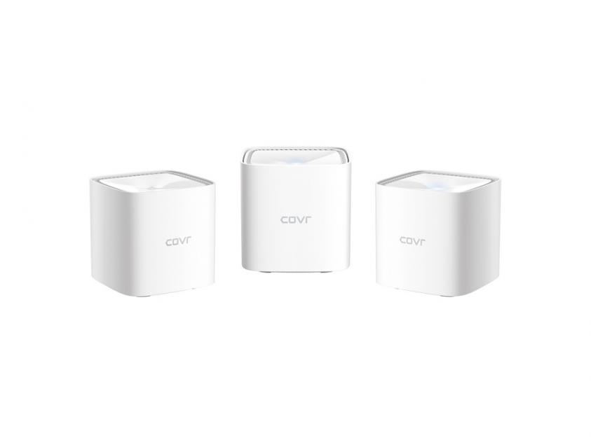Access Point D-Link COVR-1102 AC1200 Dual Band Whole Home Mesh Wi-Fi System (3-Pack) (COVR-1103)