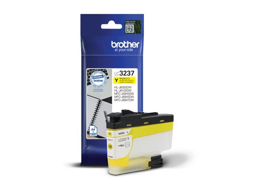 Μελάνι Brother LC-3237Y Yellow 1500Pgs (LC-3237Y)
