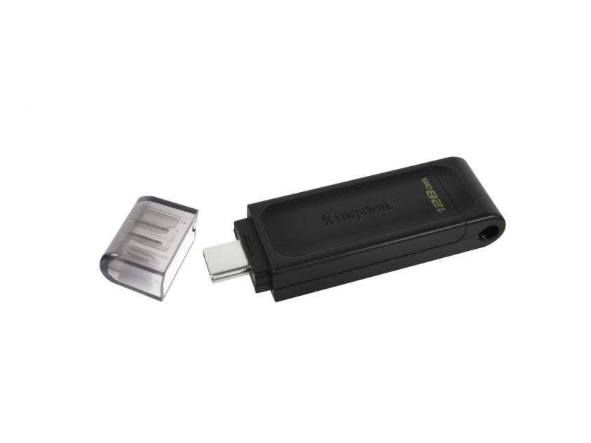 USB Flash Drive Kingston DataTraveler 70 128GB 3.2 Type-C Black (DT70/128GB)