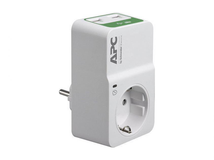 Πολύπριζο APC Essential SurgeArrest 2x USB Wall Adapter (PM1WU2-GR)