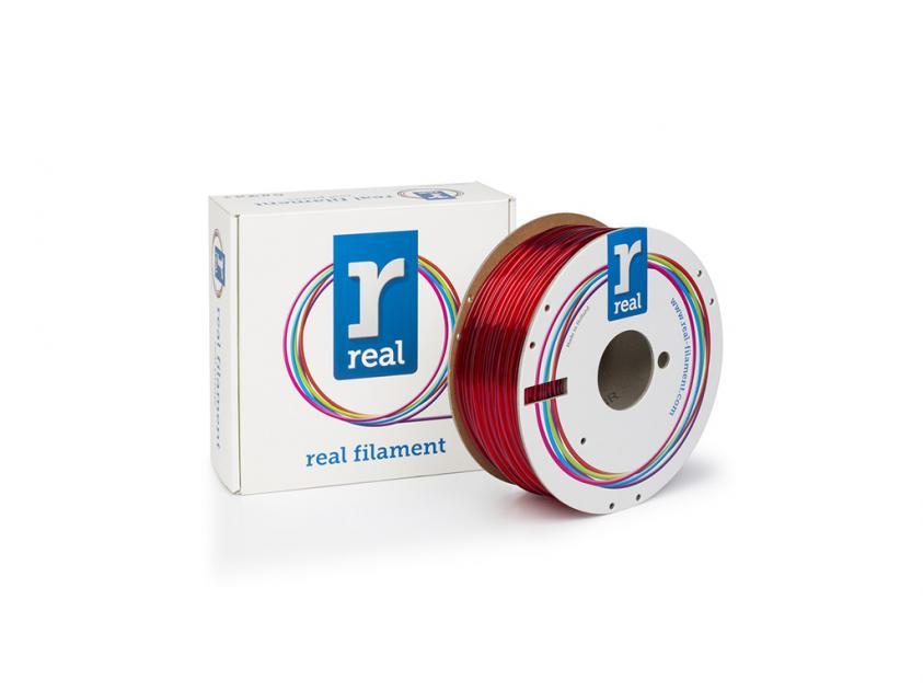 3D Printer Filament Real PETG 2.85mm Spool of 1Kg Translucent Red (NLPETGRED1000MM3)