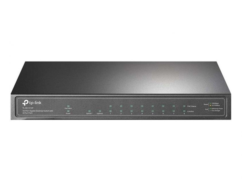 Switch TP-Link TL-SG1210P 10-Port 10/100/1000 Mbps POE+ v1 (TL-SG1210P)