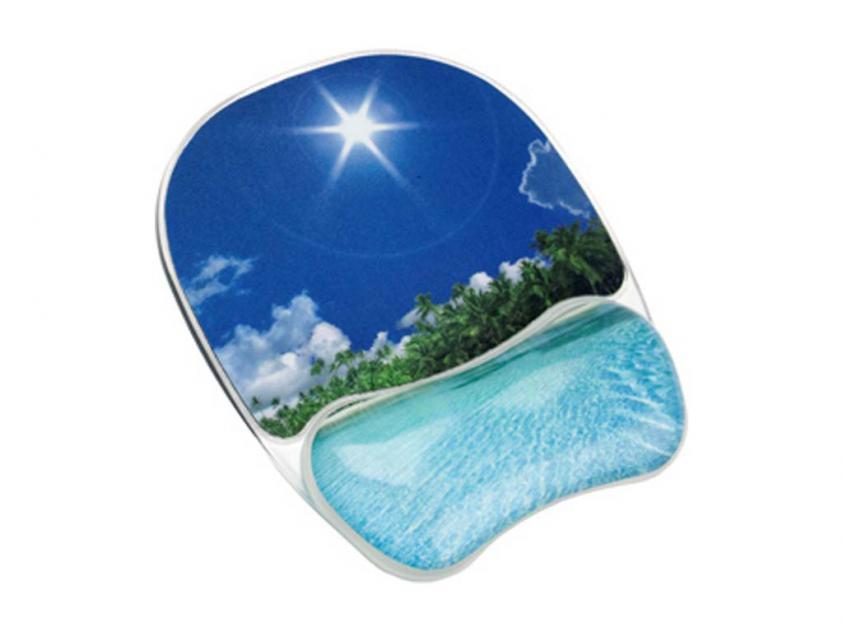 MousePad Fellowes Wrist Rest Tropical Beach (9202601)
