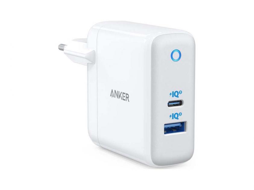 Charger Anker PowerPort Atom III 60W 1xUSB-A/1xUSB-C White (A2322G21)