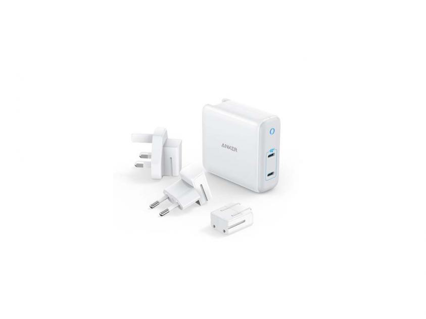 Charger Anker PowerPort Atom III 60W Universal 2xUSB-C White (A2629H21)