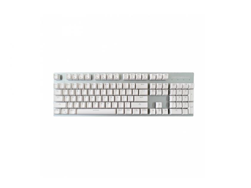 Gaming Mechanical Keyboard Motospeed GK89 White Wireless Ice Blue Backlit Blue Switch GR Layout (MT00175)