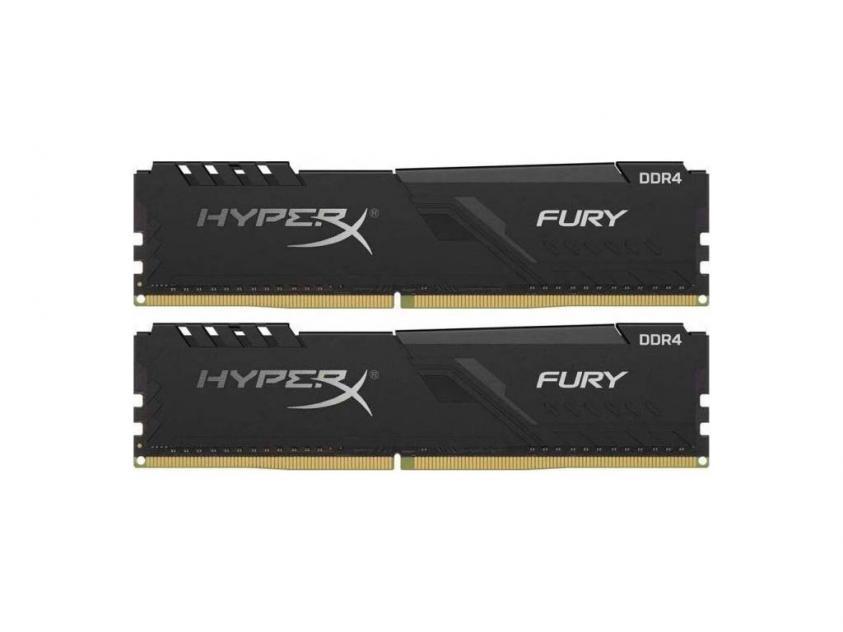 Μνήμη RAM Kingston HyperX Fury 8GB Kit (2X4GB) DDR4 2400MHz (HX424C15FB3K2/8)