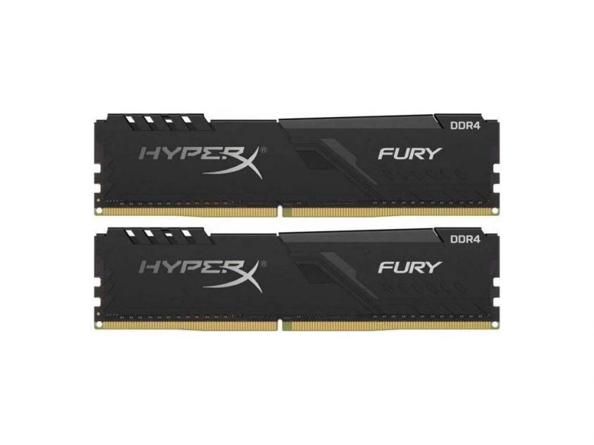 Μνήμη RAM Kingston HyperX Fury 8GB Kit (2X4GB) DDR4 2666MHz (HX426C16FB3K2/8)