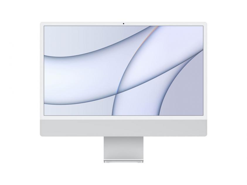 Desktop Apple iMac 2021 8Core and 7Core GPU M1 8GB/256GB/ 24 4.5K Retina- Silver (MGTF3GR/A)