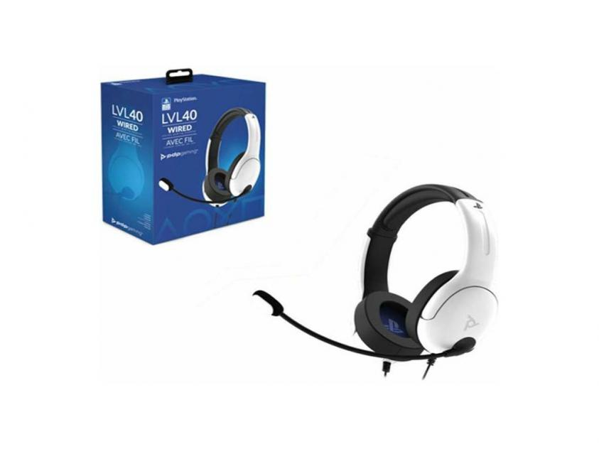 Gaming Ακουστικά PDP LVL40 Stereo Wired White PS4/PS5 (051-108-EU-WH)