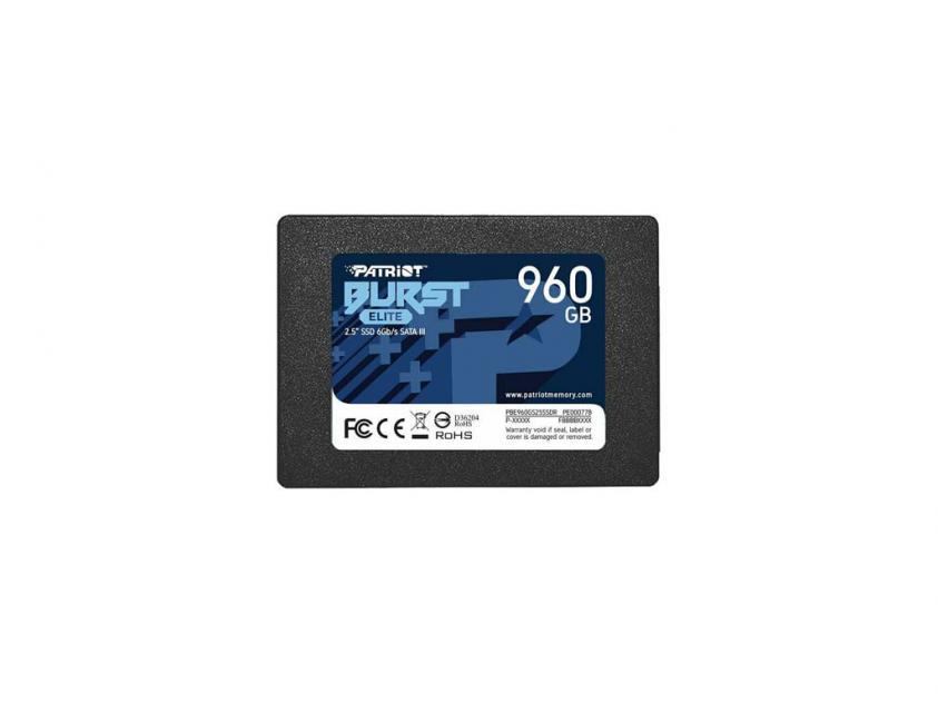 Εσωτερικός Σκληρός Δίσκος SSD Patriot Burst Elite 960GB 2.5-inch (PBE960GS25SSDR)