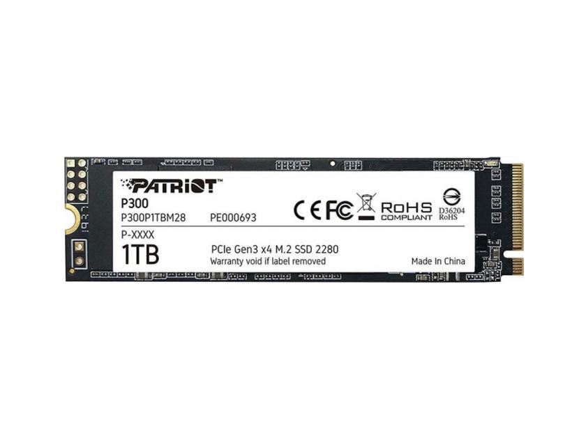 Εσωτερικός Σκληρός Δίσκος SSD Patriot P300 1TB M.2 (P300P1TBM28)