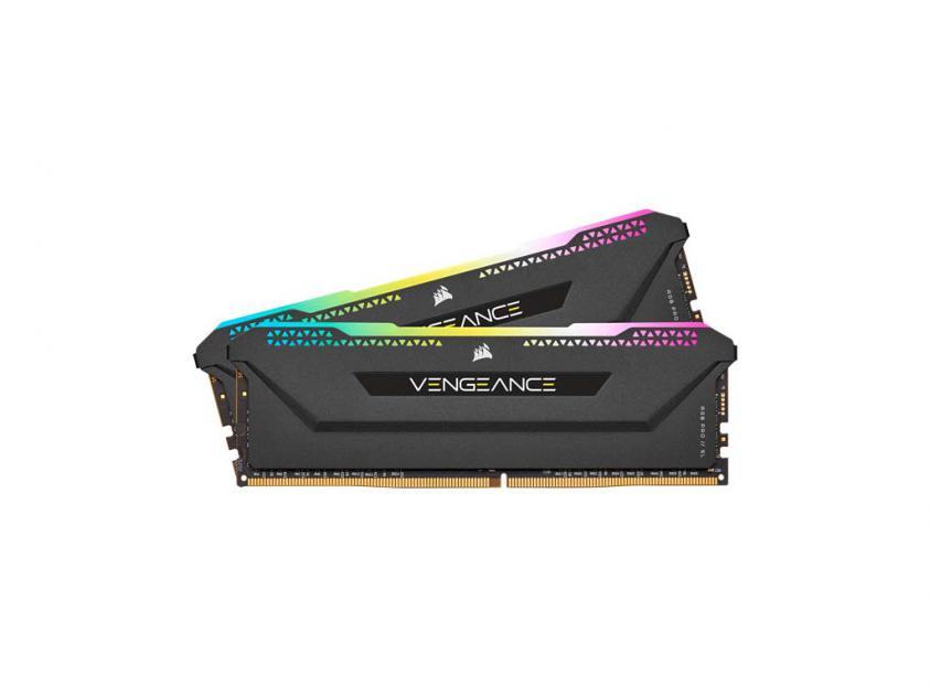 Μνήμη RAM Vengeance Black RGB PRO SL 16GB (2X8GB) DDR4 3200MHz C16  (CMH16GX4M2Z3200C16)