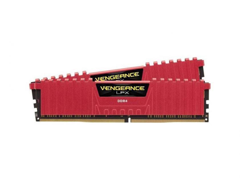 Μνήμη RAM Vengeance Red LPX 16GB (2X8GB) DDR4 2666MHz C16 (CMK16GX4M2A2666C16R)