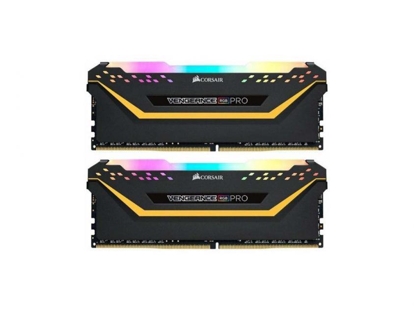 Μνήμη RAM Vengeance RGB Pro 16GB (2X8GB) DDR4 3200MHz (CMW16GX4M2C3200C16-TUF)