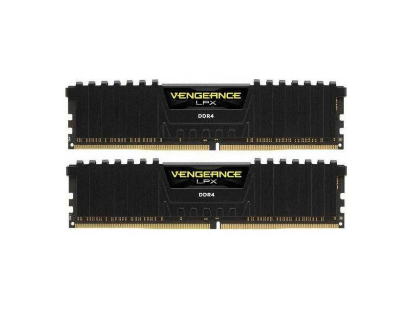 Μνήμη RAM Vengeance Black LPX 8GB (2X4GB) DDR4 2133MHz C13 (CMK8GX4M2A2133C13)