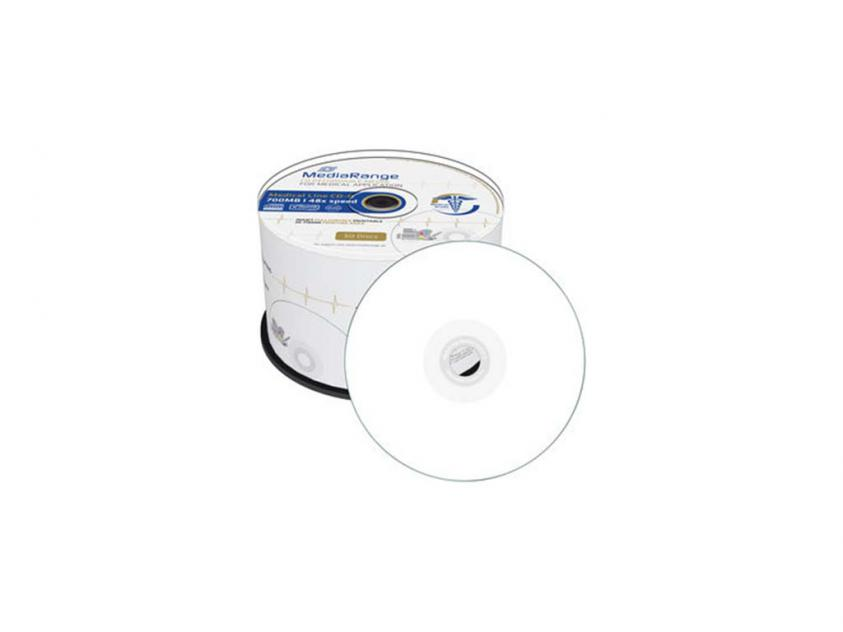 CD-R MediaRange 700MB 48x Cake Box x50 Full Surface Printable (MR229)