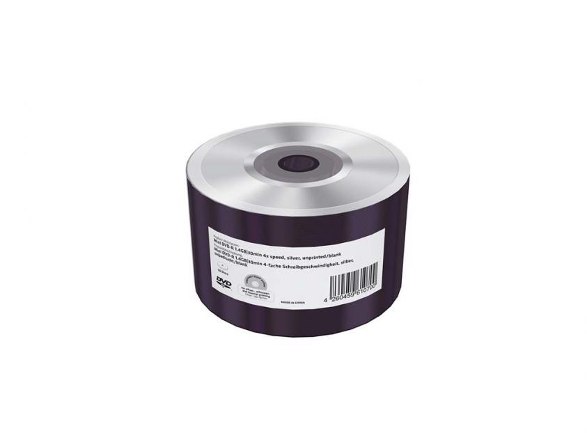 DVD-R Mini MediaRange 1.4GB 4x Shrink x50 Unprinted (MR435)
