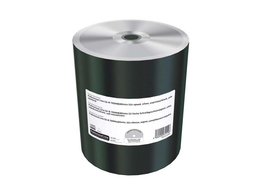 CD-R MediaRange Professional Line 700MB 52x Cake Box x100 Full Surface Printable (MRPL502)