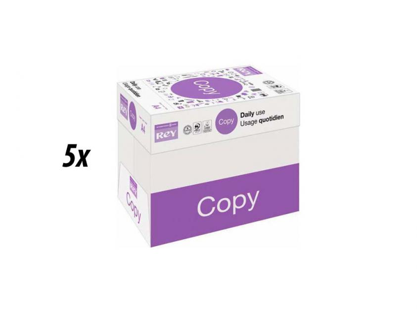 Χαρτί  Rey Copy Α4 80g 5 Boxes (rey5boxa4)