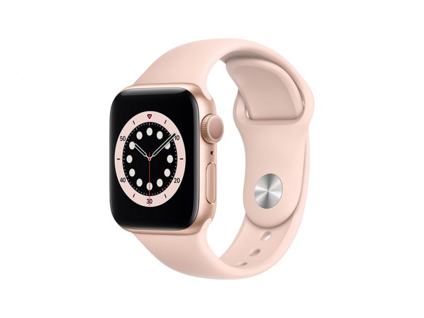 Apple Watch Series 6 Aluminium with Pink Sand Sport Band 40mm Gold (MG123GK/A)