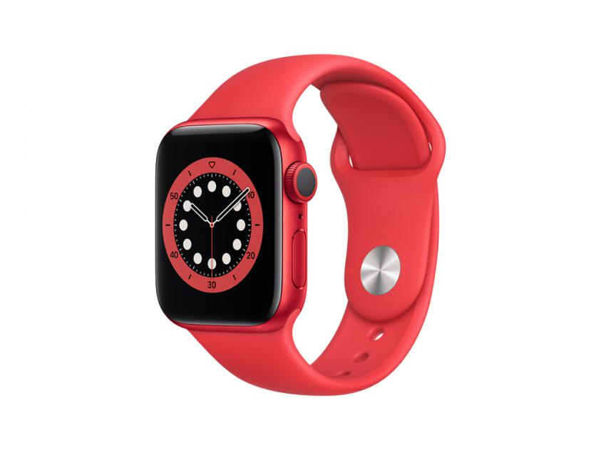 Apple Watch Series 6 Aluminium with Red Sport Band 40mm Red (M00A3GK/A)