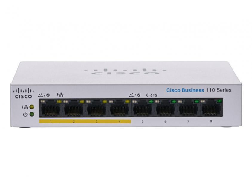 Switch Cisco CBS110-8PP-D 8-Port 10/100/1000 Mbps PoE (CBS110-8PP-D-EU)