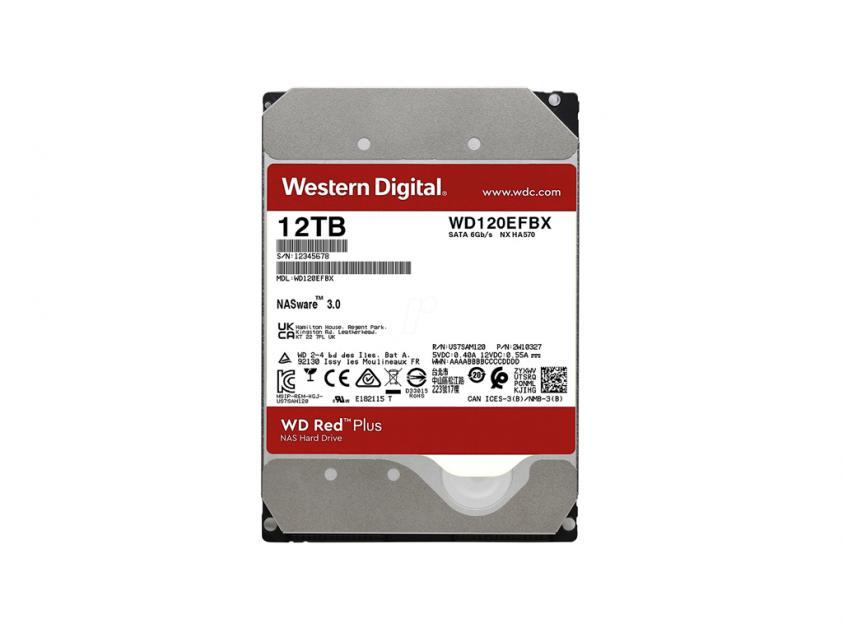 Εσωτερικός Σκληρός Δίσκος HDD Western Digital Red Plus NAS 12TB SATA III 3.5-inch (WD120EFBX)