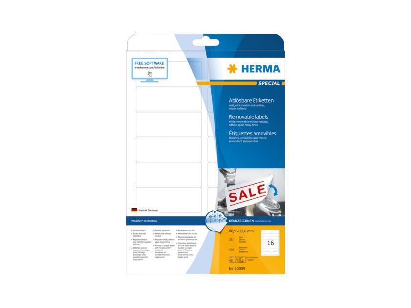 Αυτοκόλλητες Ετικέτες Herma A4 88,9 x 33,8 25 sheets (10009)