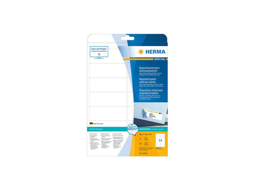 Αυτοκόλλητες Ετικέτες Herma A4 99,1 x 38,1 25 sheets (10016)