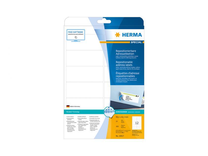 Αυτοκόλλητες Ετικέτες Herma A4 99,1 x 42,3 25 sheets (10017)