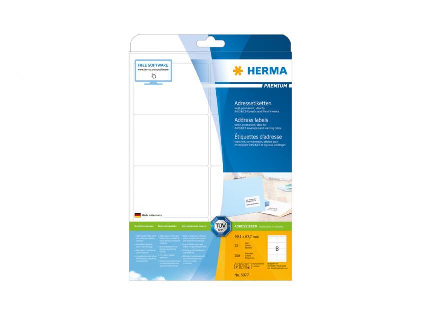 Αυτοκόλλητες Ετικέτες Herma A4 99,1 x 67,7 25 sheets (10018)