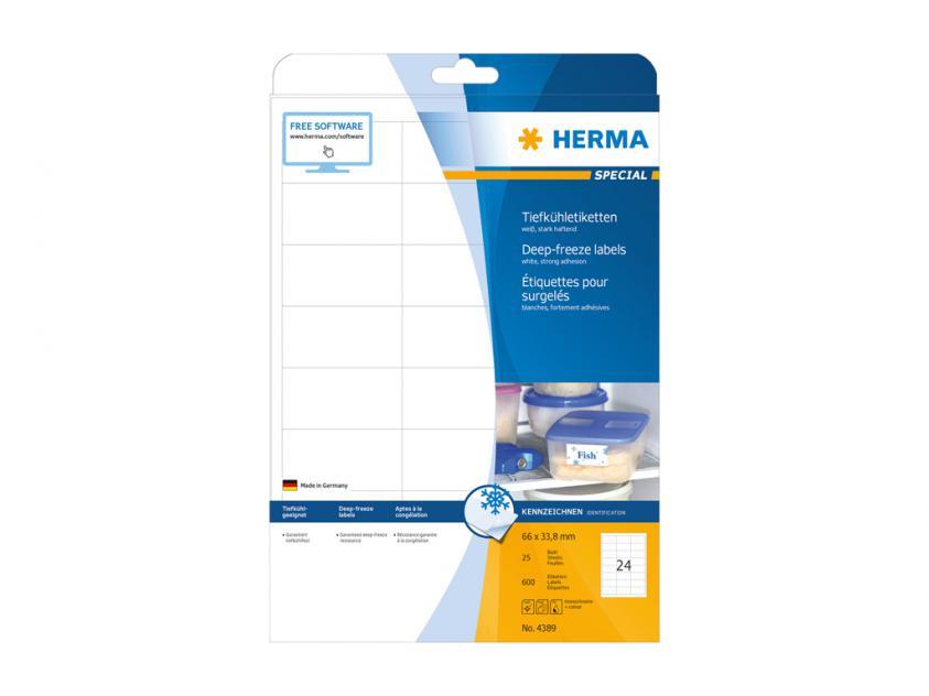 Αυτοκόλλητες Ετικέτες Κατάψυξης Herma 66,0Χ33,8 25 sheets (4389)