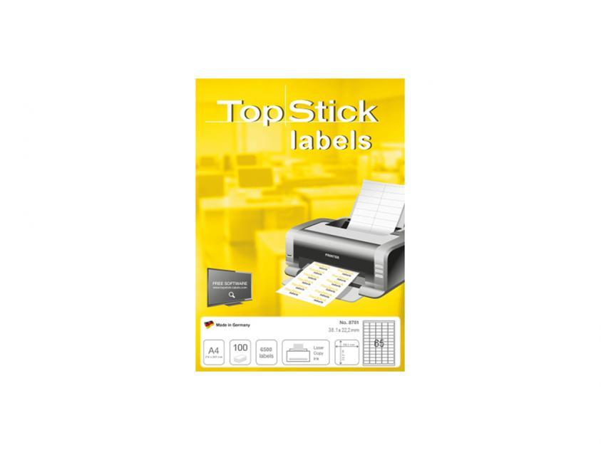 Αυτοκόλλητες Ετικέτες TopStick 38.1x21.2mm 100-Sheets (8781)