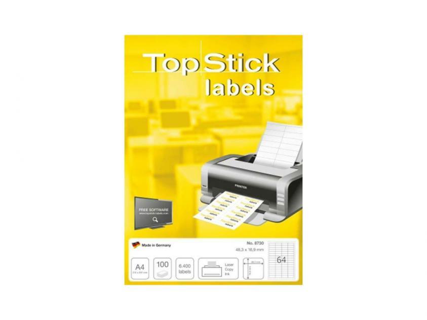 Αυτοκόλλητες Ετικέτες TopStick 48.3x16.9mm 100-Sheets (8730)
