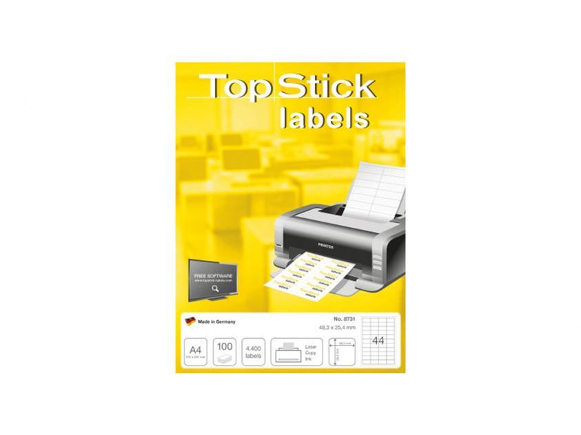 Αυτοκόλλητες Ετικέτες TopStick 48.3x25.4mm 100-Sheets (8731)