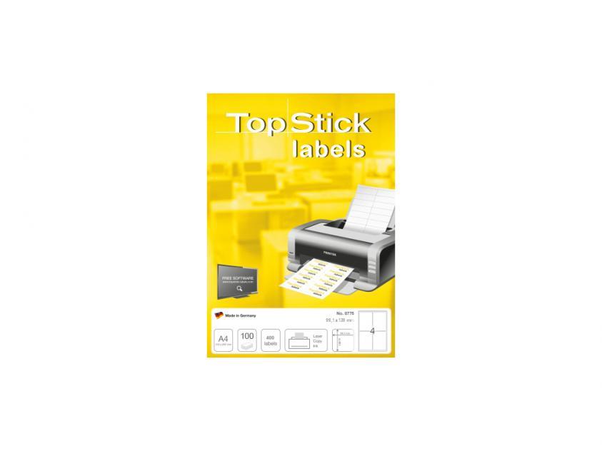 Αυτοκόλλητες Ετικέτες TopStick 99.1x139mm 100-Sheets (8775)