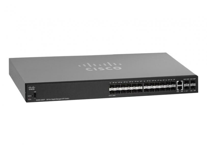 Switch Cisco SG350-28SFP-K9-EU 28-Port 10/100/1000 Mbps (SG350-28SFP-K9-EU)
