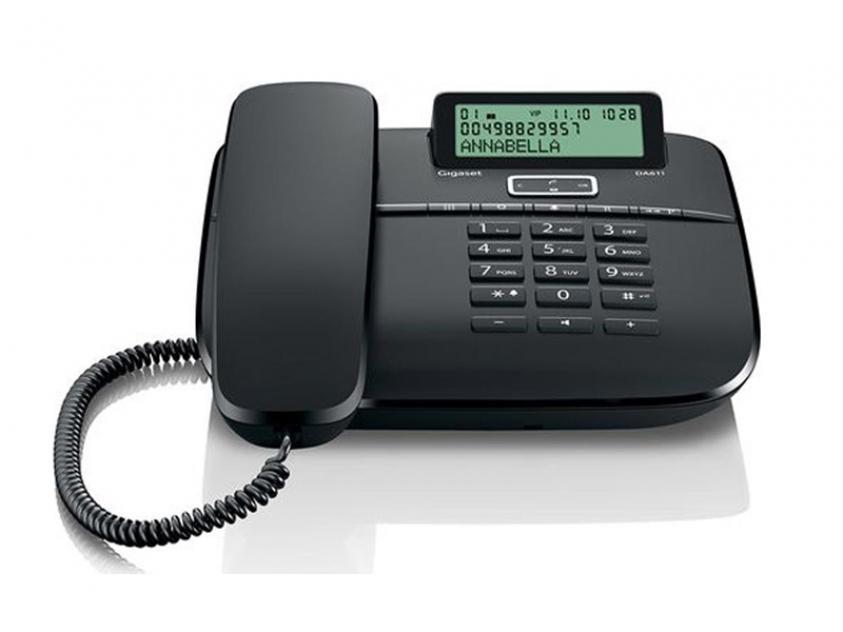 Τηλεφωνική Συσκευή Gigaset DA611 Black (S30350-S212-R121)