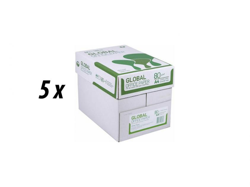 Χαρτί Global A4 80g 5 Boxes (GLOBAL5BOXA4)